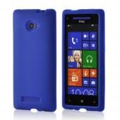 Blue Silicone Case for HTC 8X