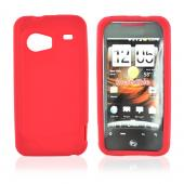 HTC Droid Incredible Silicone Case, Rubber Skin - Red