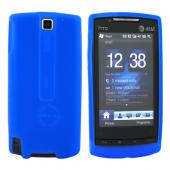 AT&T HTC Pure Silicone Case, Rubber Skin - Blue