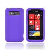 HTC Trophy Silicone Case - Purple