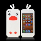 Apple iPhone 5 Silicone Case - White Duck