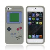 Apple iPhone 5 Silicone Case - Gray Retro Gamer