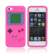 Apple iPhone 5 Silicone Case - Hot Pink Retro Gamer