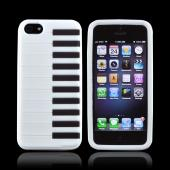 Apple iPhone 5 Silicone Case - White Piano