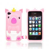 Apple iPhone 4/4S Silicone Case - Baby Pink Royal Piglet