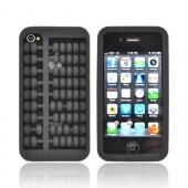 AT&T/ Verizon Apple iPhone 4, iPhone 4S Silicone Case - Black Abacus