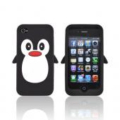 AT&amp;T/ Verizon Apple iPhone 4. iPhone 4S Silicone Case - Black Penguin