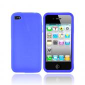 Apple iPhone 4 Silicone Case, Rubber Skin - Blue