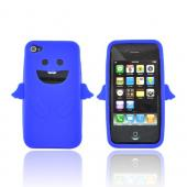 Apple Verizon/ AT&amp;T iPhone 4, iPhone 4S Silicone Case - Blue Angel w/ Wings