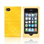 AT&amp;T/ Verizon Apple iPhone 4, iPhone 4S Silicone Case - Golden Brown Cracker