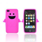 Apple Verizon/ AT&amp;T iPhone 4, iPhone 4S Silicone Case - Hot Pink Angel w/ Wings