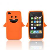Apple Verizon/ AT&amp;T iPhone 4, iPhone 4S Silicone Case - Orange Angel w/ Wings