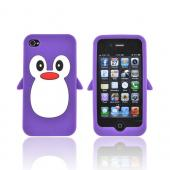 AT&amp;T/ Verizon Apple iPhone 4. iPhone 4S Silicone Case - Purple Penguin