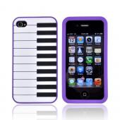 AT&amp;T/ Verizon Apple iPhone 4, iPhone 4S Silicone Case - Purple Piano