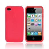 Apple iPhone 4 Silicone Case, Rubber Skin - Red