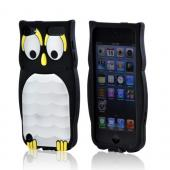 Premium Apple iPod Touch 5 Silicone Case - Black/ White Owl