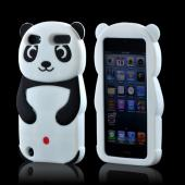 Premium Apple iPod Touch 5 Silicone Case - Black/ White Baby Panda w/ Belly Button