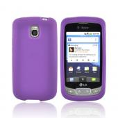 LT Optimus T, LG Thrive Silicone Case - Purple