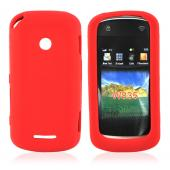Motorola Crush W835 Silicone Case, Rubber Skin - Red