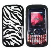 Motorola Clutch i465 Silicone Case, Rubber Skin - Zebra