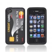 AT&amp;T/ Verizon Apple iPhone 4, iPhone 4S Silicone Case - Black Credit Card