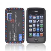 AT&amp;T/ Verizon Apple iPhone 4, iPhone 4S Silicone Case - Black Envelope Letter