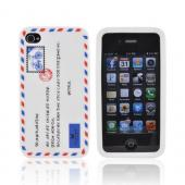 AT&T/ Verizon Apple iPhone 4, iPhone 4S Silicone Case - White Envelope Letter