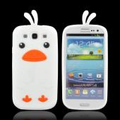 Samsung Galaxy S3 Silicone Case - White Duck