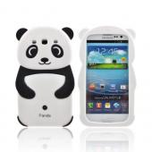 Premium Samsung Galaxy S3 Silicone Case - Black/ White Baby Panda w/ Belly Button
