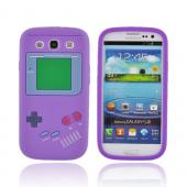 Samsung Galaxy S3 Silicone Case - Purple Retro Pocket Gamer