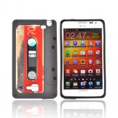 Samsung Galaxy Note Crystal Silicone Case - Black Cassette