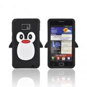 AT&T Samsung Galaxy S2 Silicone Case - Black Penguin