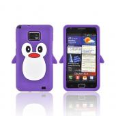 AT&T Samsung Galaxy S2 Silicone Case - Purple Penguin