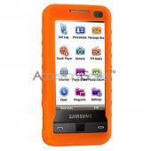Samsung Omnia Silicone Case, Rubber Skin - Orange