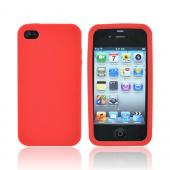 Apple Verizon/ AT&amp;T iPhone 4, iPhone 4S Silicone Case - Red