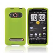 Premium HTC Evo 4G Silicone Case, Rubber Skin - Neon Green