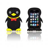 AT&amp;T/ Verizon Apple iPhone 4, iPhone 4S Silicone Case - Black Duck
