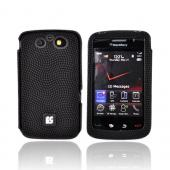 Blackberry Storm 2 9550 Eno-Case Soft Leather Textured Case w/ Small Square Designs - Black