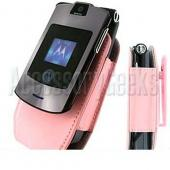 Motorola RAZR V3 Baby Pink Leather EVA Pouch