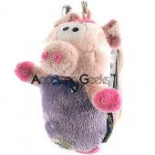 Fun Friends Plush Pig Flip Animal Cell Phone Case (FSS)