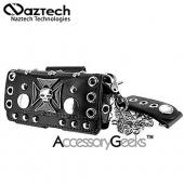 Naztech Rebel Cell Phone Case w/ Belt Clip &amp; Chain (FUT) - Skull Black