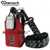 Naztech Sport Phone Case w/ Belt Clip, Armband, Neckstrap &amp; Utility Clip - American Red
