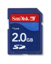 2GB SD Card for Cell Phones, MP3 Music and Data Files