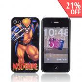 Original Marvel AT&T/ Verizon iPhone 4 Hardshell Hard Case, MCU0148 - Yellow/ Blue Wolverine Action