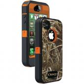 OTTERBOX APL2-I4SUN-H3-E4RT1_A: IPHONE 4S DEFENDER SERIES CASE (BLAZE ORANGE/MAX 4 CAMO PATTERN)