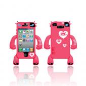 Original Nugo Labs Robotector AT&T/ Verizon Apple iPhone 4, iPhone 4S Silicone Case - Hot Melon Mary - XXIP4