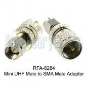 Mini UHF Male to SMA Male Adapter, RFA-8284
