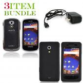 Samsung Epic 4G Bundle Package - Clear Hard Case, Silicone Case & Travel Charger - (Essential Combo)