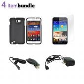 Samsung Galaxy Note Essential Bundle Package w/ Black Hard Case, Screen Protector, Car Charger, &amp; Travel Charger