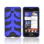 Original Nex AT&amp;T Samsung Galaxy S2 Rubberized Hard Fishbone on Silicone Case w/ Screen Protector, SAMI777FB06 - Blue/ Black